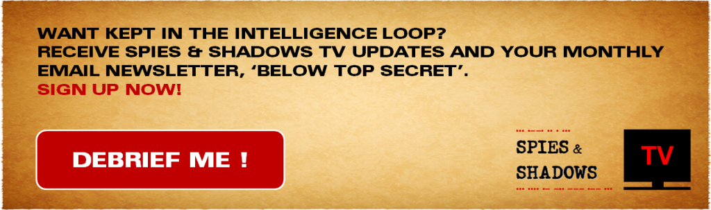 Email sign up form for Spies & Shadows TV updates, newsletter